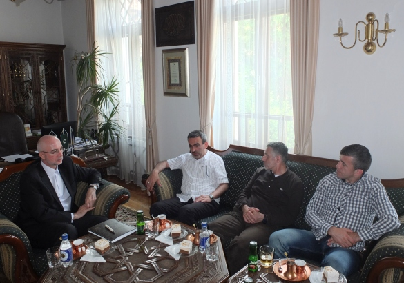 Muftija Pašo-ef. u posjeti Muftijstvu tuzlanskom