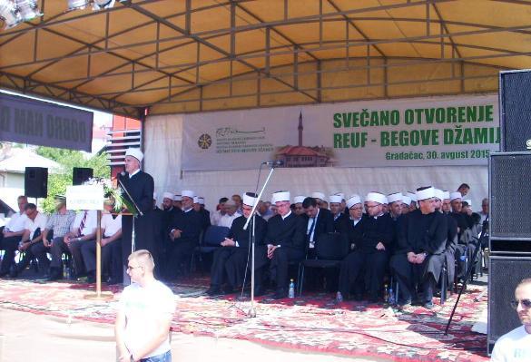 Otvorena obnovljena Reuf-begova džamija u Gradačcu