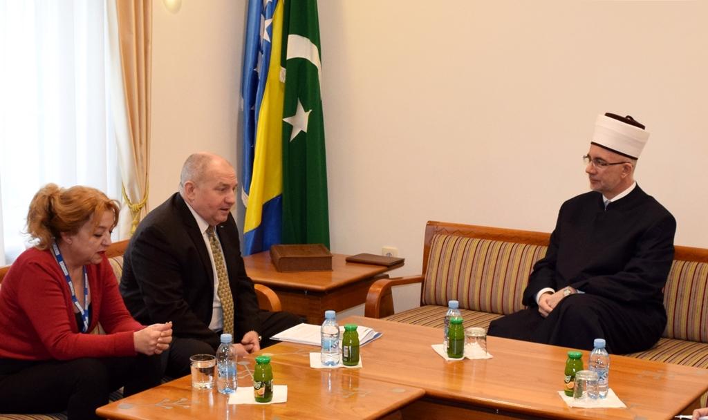 Muftija tuzlanski primio zamjenika šefa Misije OSCE-a u Bosni i Hercegovini