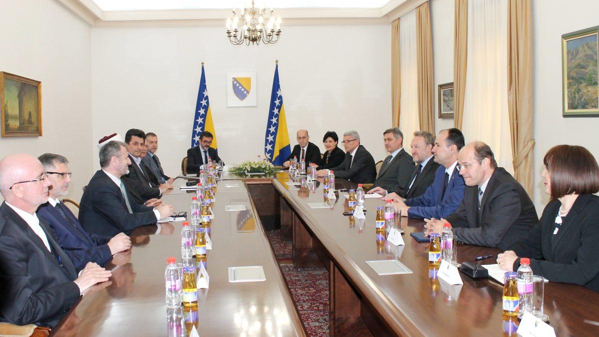 Reisu-l-ulema sa delegacijom IZ u BiH na sastanak u Predsjedništvu BiH