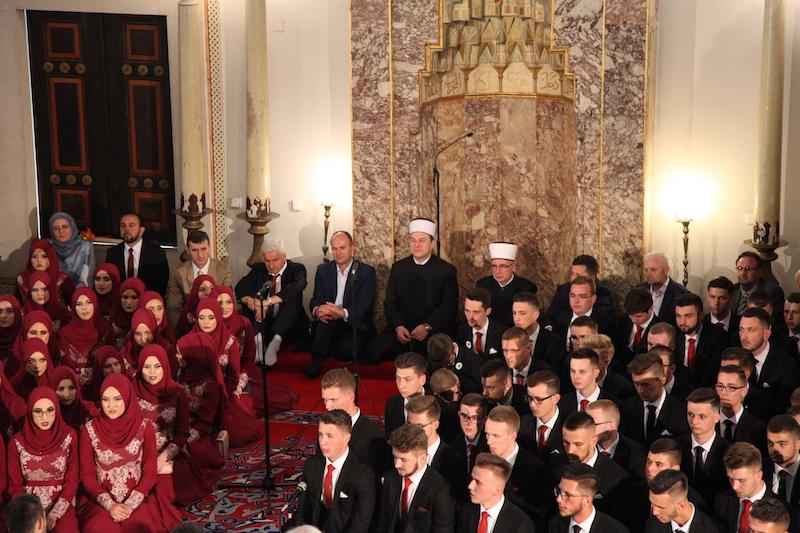 Muftija tuzlanski izaslanik Reisu-l-uleme na akademiji maturanata Gazi Husrev-begove medrese