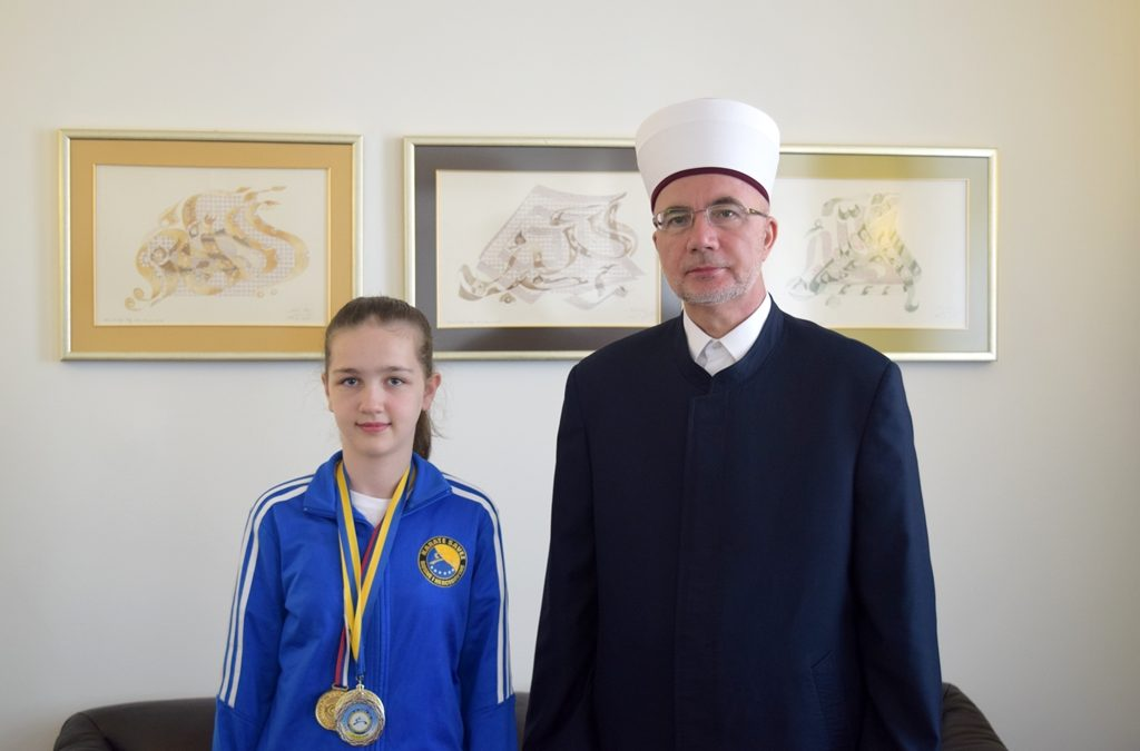 Prijem za mladu i uspješnu karatistu iz Srebrenice