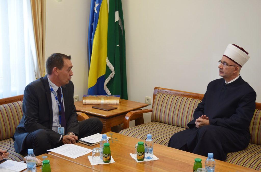 Muftija tuzlanski primio novog šefa kancelarije OSCE-a u Tuzli