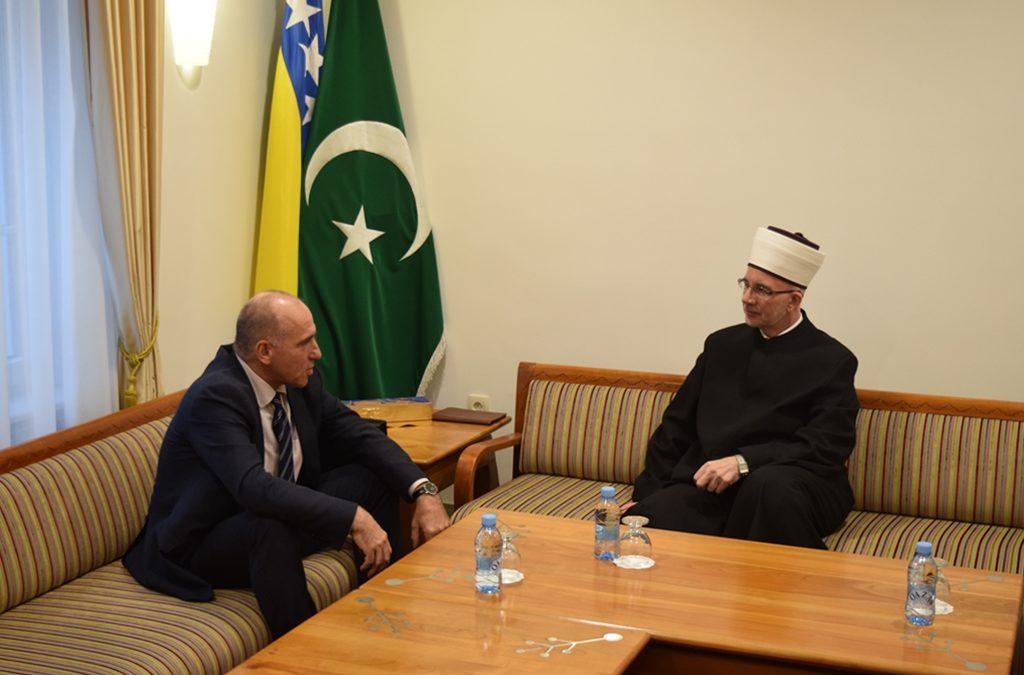 Muftija Fazlović primio premijera Tuzlanskog kantona Denijala Tulumovića