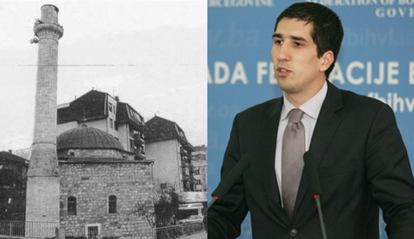 Ministar Kaplan obišao gradilište obnove Kuršumlije džamije u Kladnju