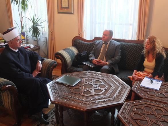 Susret muftije tuzlanskog i delegacije misije OSCE-a u BiH