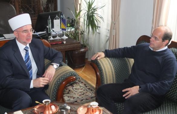 Ministar Osmanović i muftija Fazlović razgovarali o memorijalnom centru Gornja Kalesija