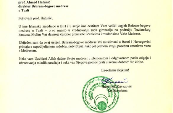 Čestitka Reisu-l-uleme