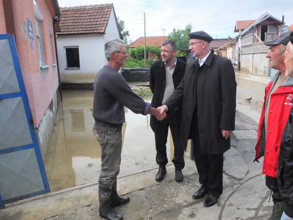 Muftija tuzlanski posjetio poplavljena područja Janje i Bijeljine