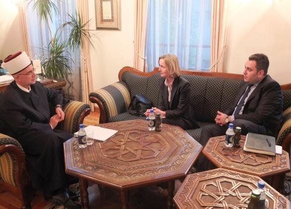 Susan Laffey i Damir Šaljić u Muftijstvu tuzlanskom