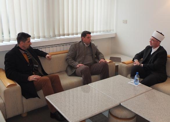 Susret muftije Fazlovića s načelnikom Srebrenice