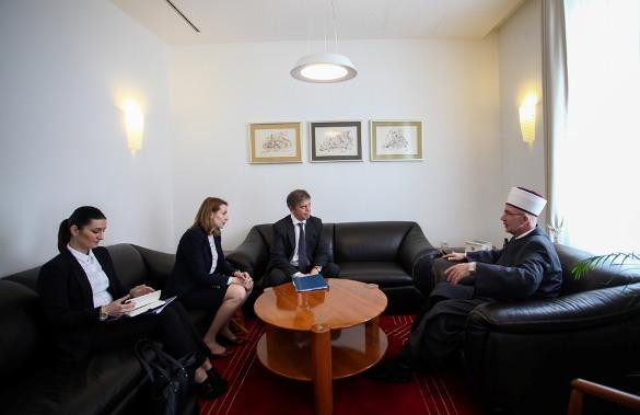 Ambasador Evropske unije Wigemark kod muftije Vahid-ef. Fazlovića