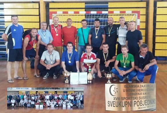 Na mostarskim nadmetanjima najbolji sportisti Tuzlanskog muftiluka