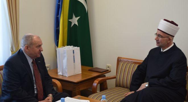 Zamjenik šefa Misije OSCE-a u BiH posjetio muftiju tuzlanskog