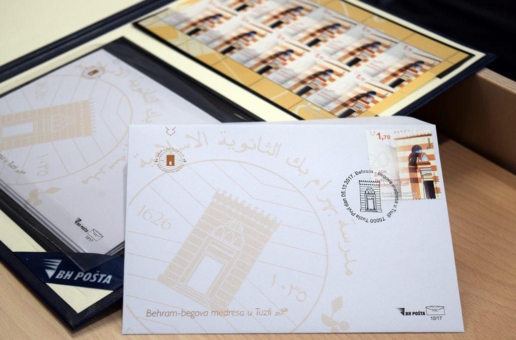 Promovisana poštanska marka sa motivom Behram-begove medrese