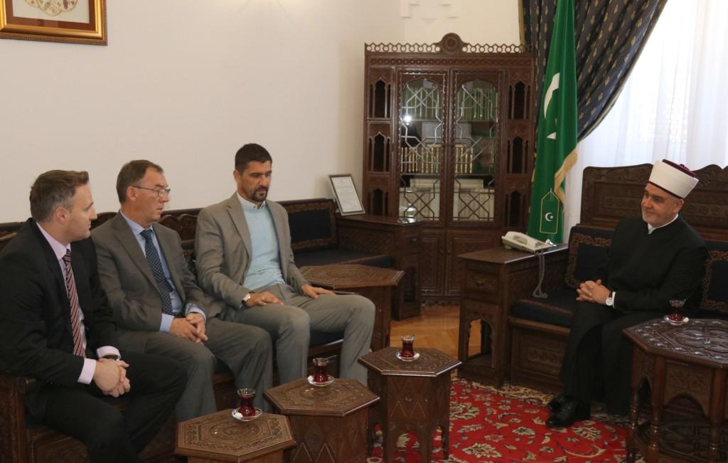Reisu-l-ulema primio Mehu Tepića, vakifa Šehidske džamije u Petriči kod Srebrenici