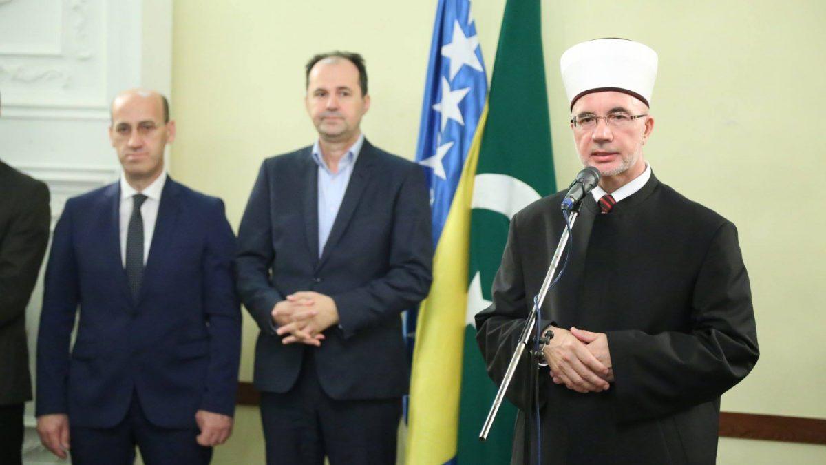 Bajramski prijem muftije Vahid-ef. Fazlovića
