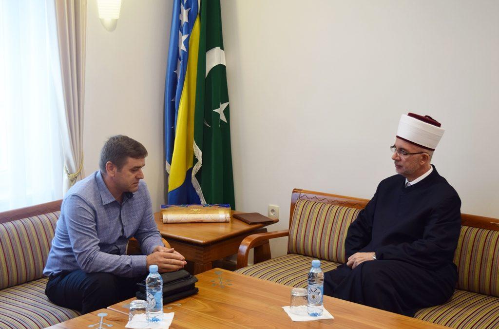 Muftija Fazlović primio predsjednika Saveza demobilisanih boraca Tuzlanskog kantona
