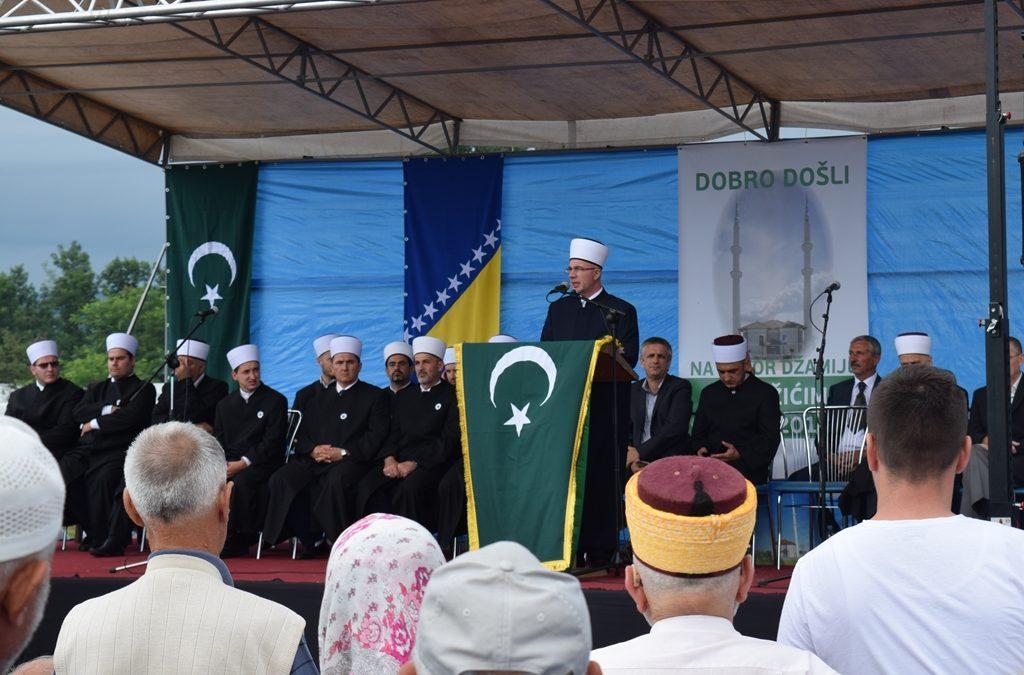 Otvorena džamija u Hadžićima, MIZ Kozarac