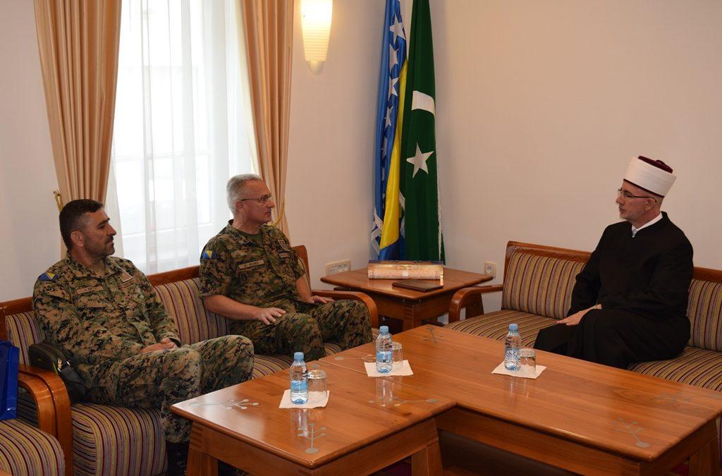 Muftija tuzlanski primio komandanta 5. pješadijske brigade OS BiH