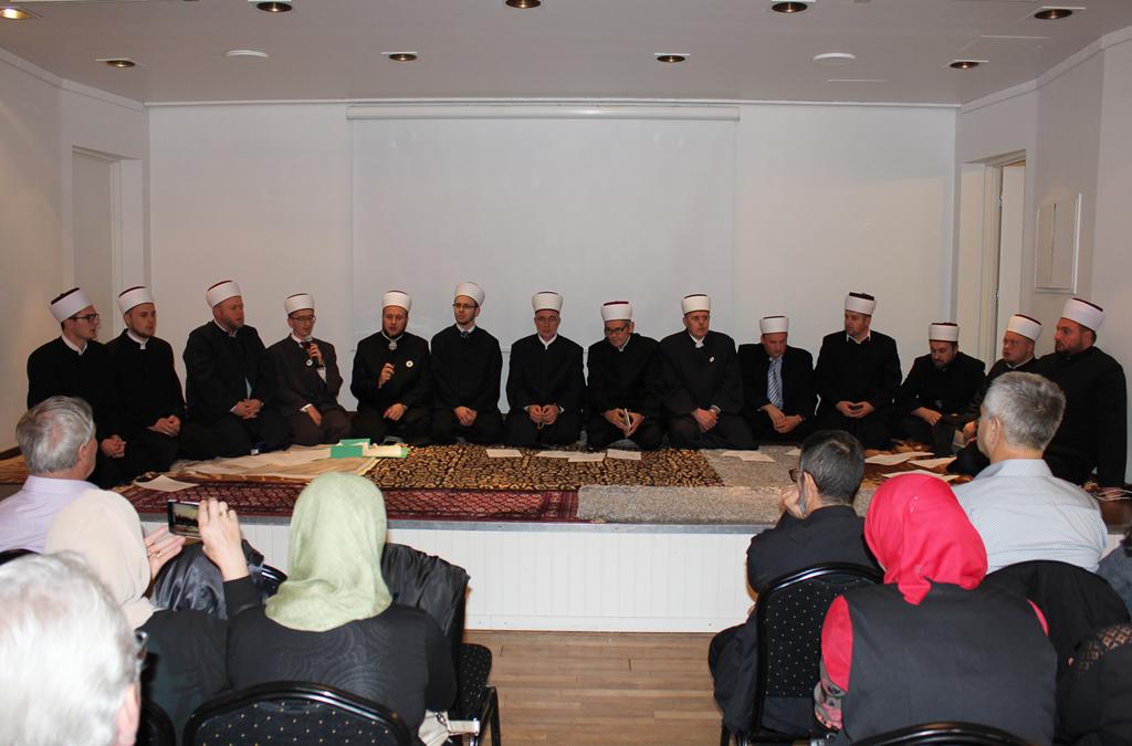 Muftija Fazlović na Centralnom mevludu Islamske zajednice Bošnjaka u Švedskoj