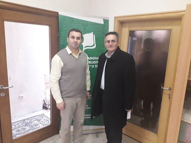 Predsjednik Izvršnog odbora MIZ Zvornik posjetio biblioteku Behram-beg