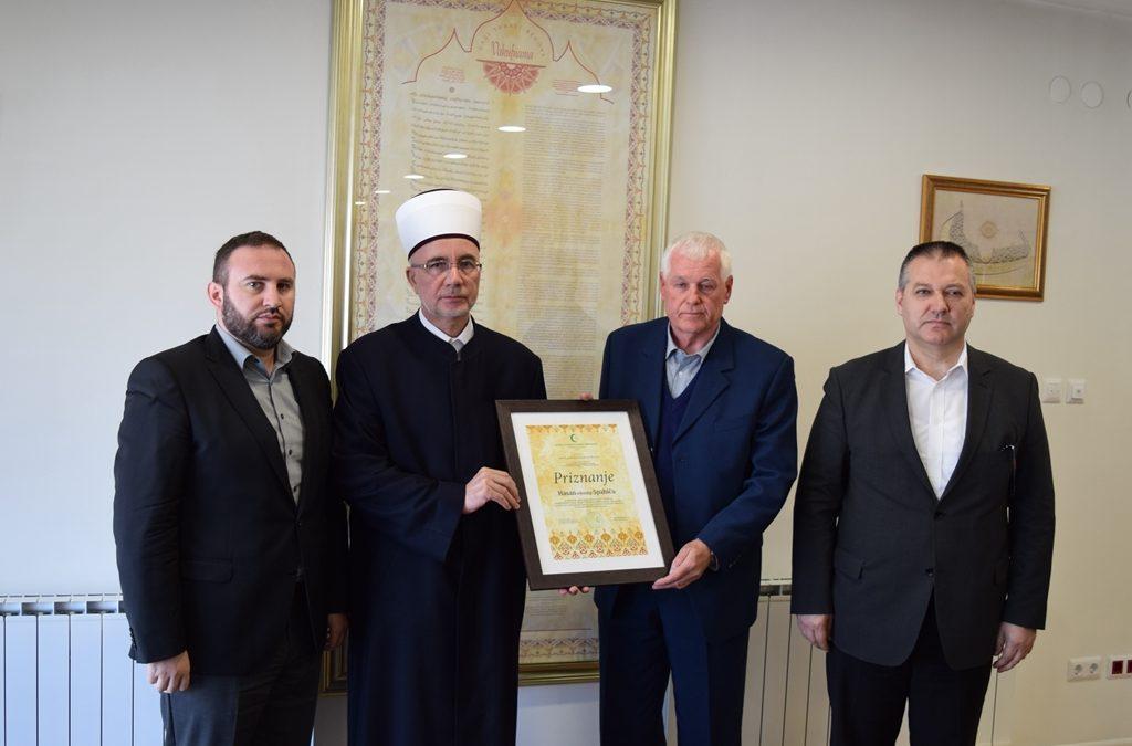 Priznanje Muftijstva tuzlanskog Hasan-ef. Spahiću