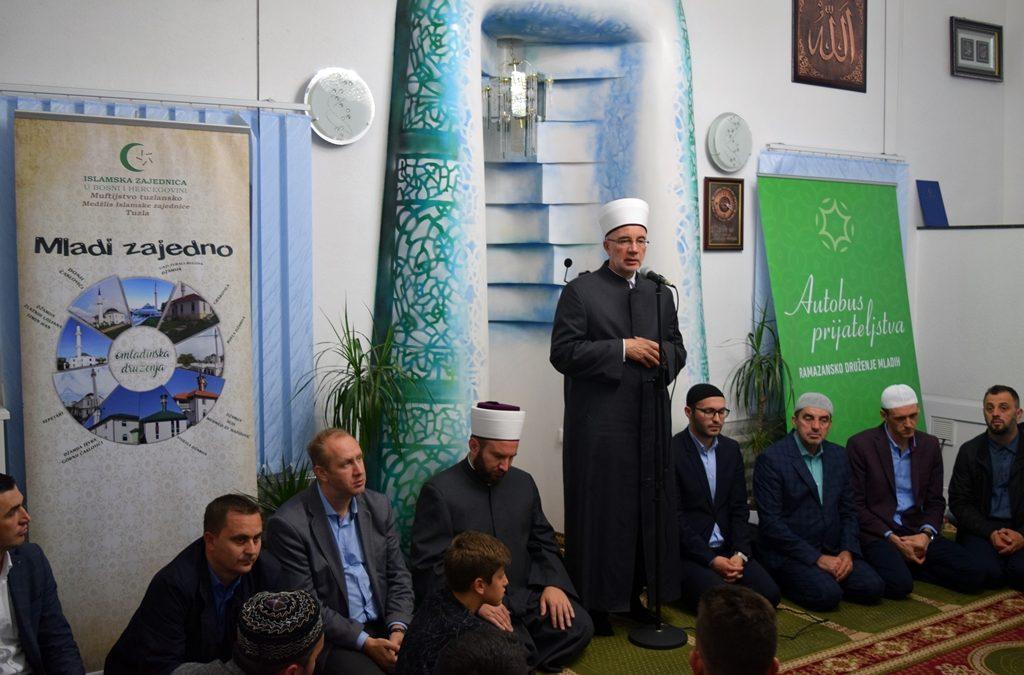 Muftija Fazlović na iftaru s mladima u Tuzli