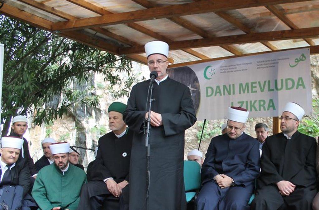 Muftija tuzlanski izaslanik Reisu-l-uleme na manifestaciji Dani mevluda i zikra u Mostaru