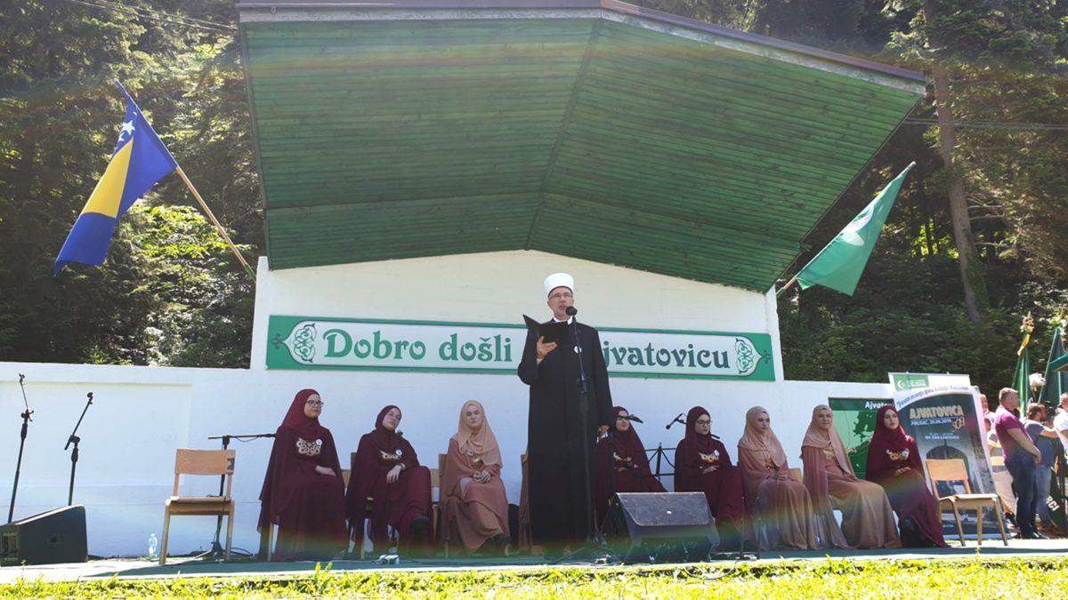 Obraćanje muftije Vahid-ef. Fazlovića na Ajvatovici