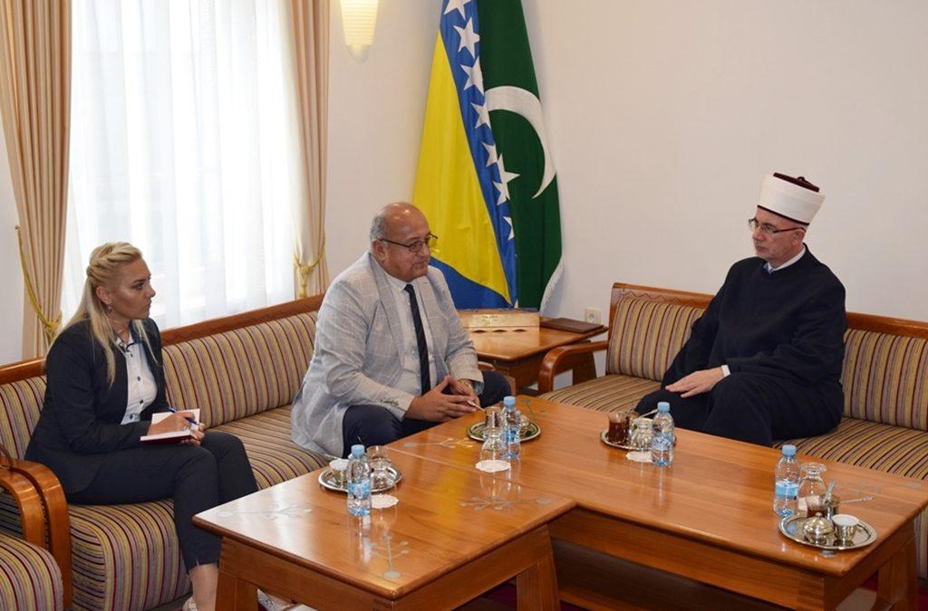 Muftija Fazlović primio zamjenika ministra odbrane BiH Seada Jusića