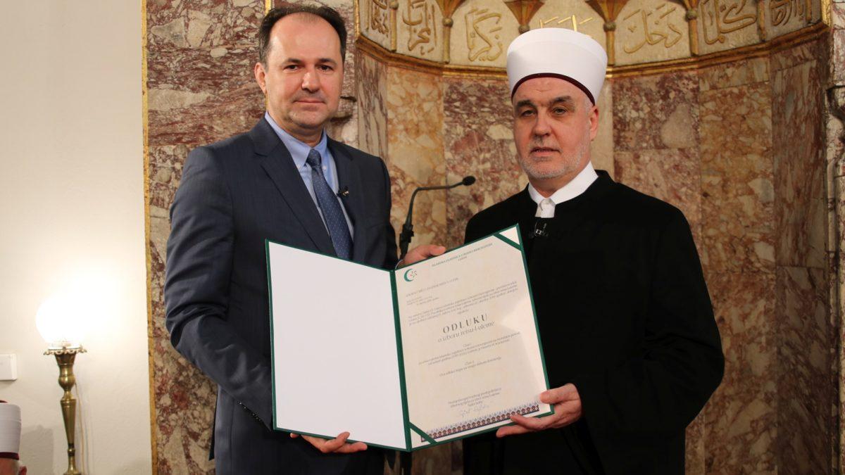 Svečanost povodom obznanjivanja novog mandata reisul-uleme Husein-ef. Kavazovića