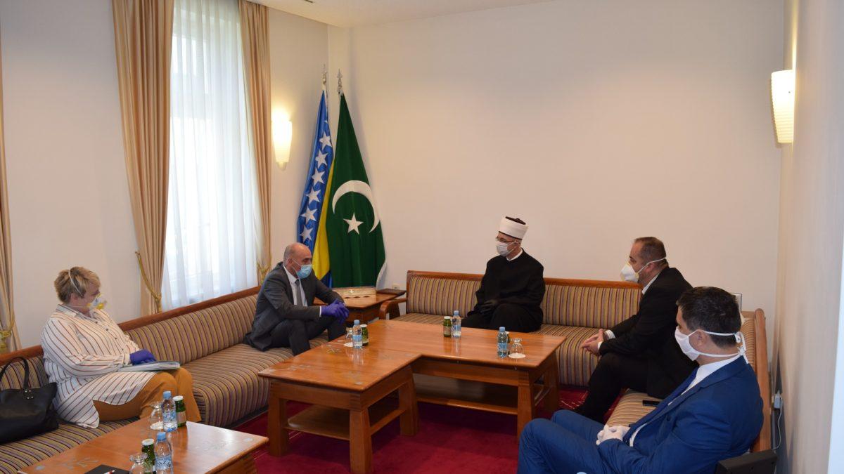Muftija Fazlović primio premijera Tuzlanskog kantona i njegove saradnike