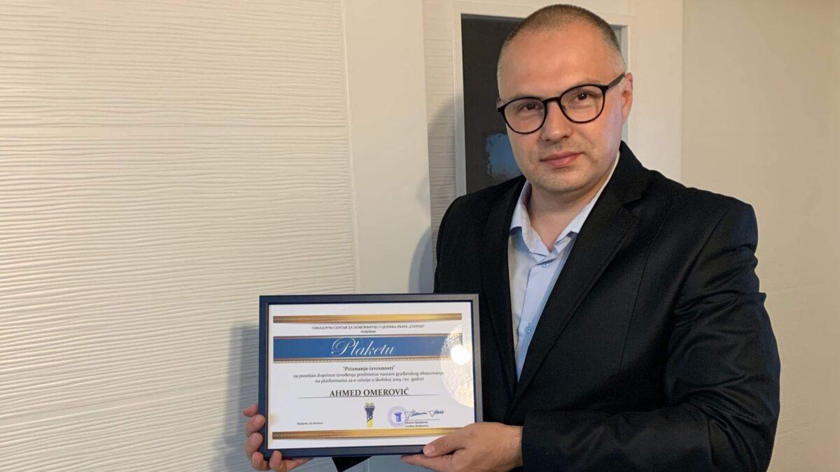 """Profesor Behram-begove medrese dobitnik priznanja """"NajNastavnik"""""""
