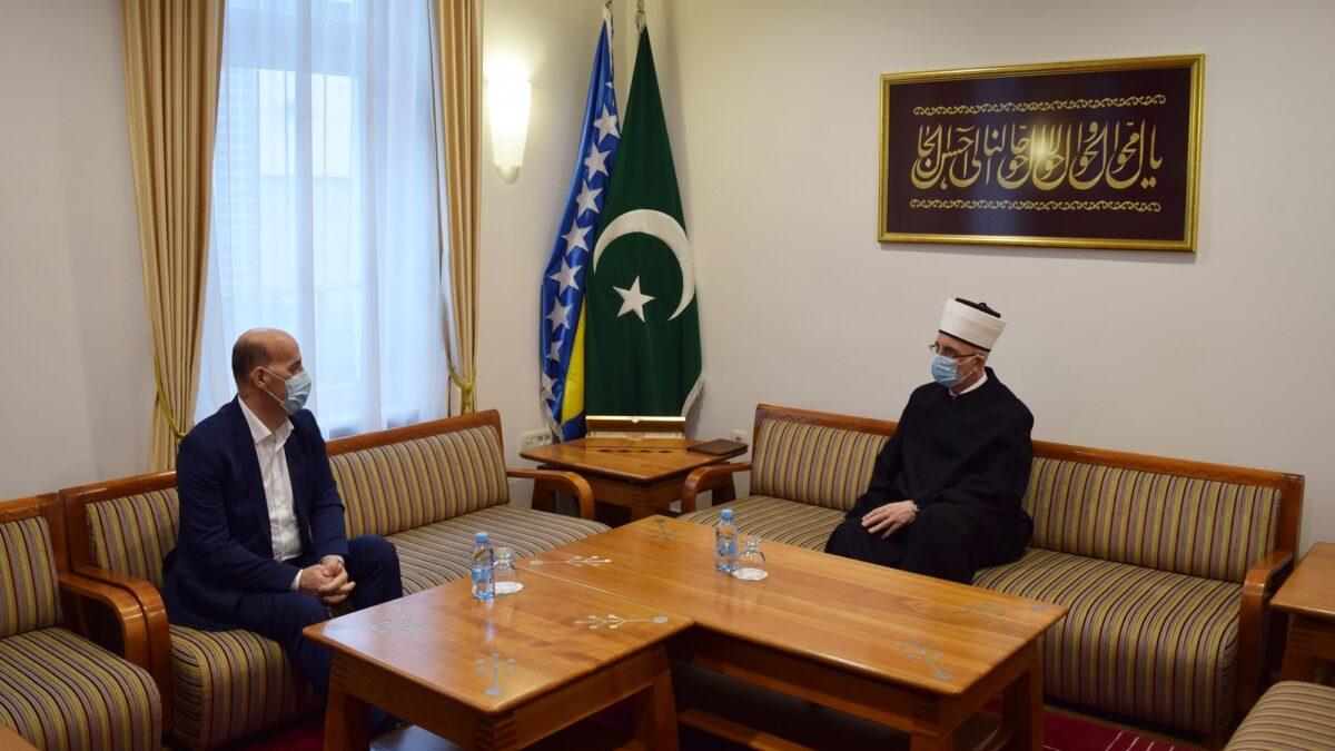 Muftija Fazlović primio potpredsjednika Ramiza Salkića