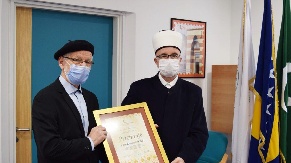 Priznanje Muftijstva tuzlanskog dr. Sead-ef. Seljubcu