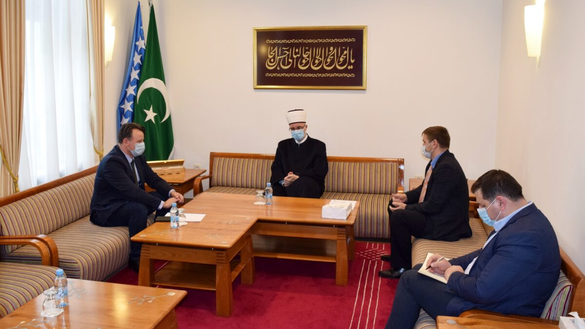 Muftija tuzlanski primio ministra za boračka pitanja i predsjednika Saveza demobilisanih boraca TK