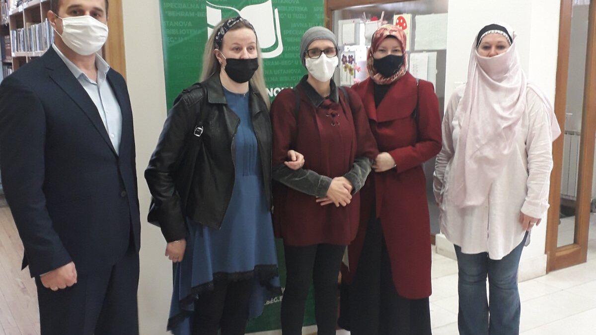 Predstavnice Udruženja građana oštećenog vida posjetile Biblioteku